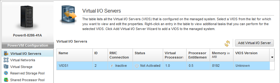 HMC Enhanced PowerVM View