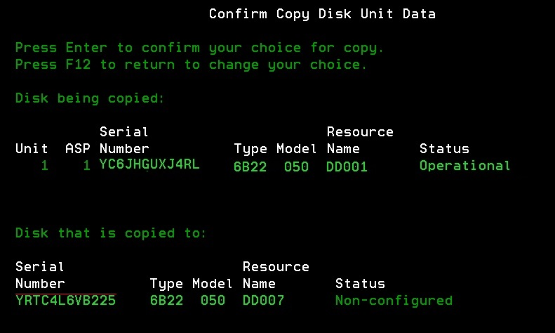 Copy Load Source - Copy Disk Unit Data