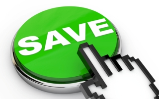 Green Save Button with pointing Hand Cursor