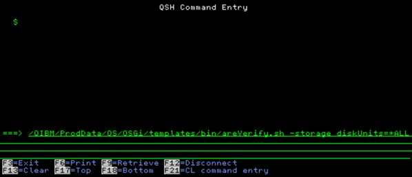 2 areVerify -storage command
