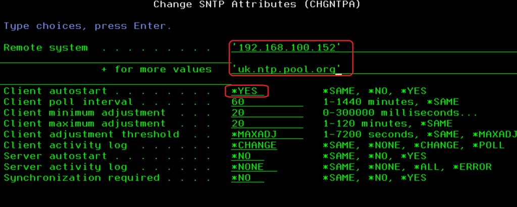 02 Command Line Set SNTP Client Server details