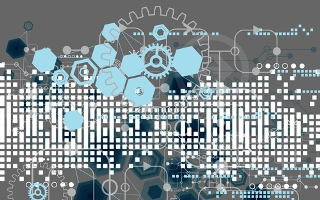 Abstract technology background with hexagonal shapes