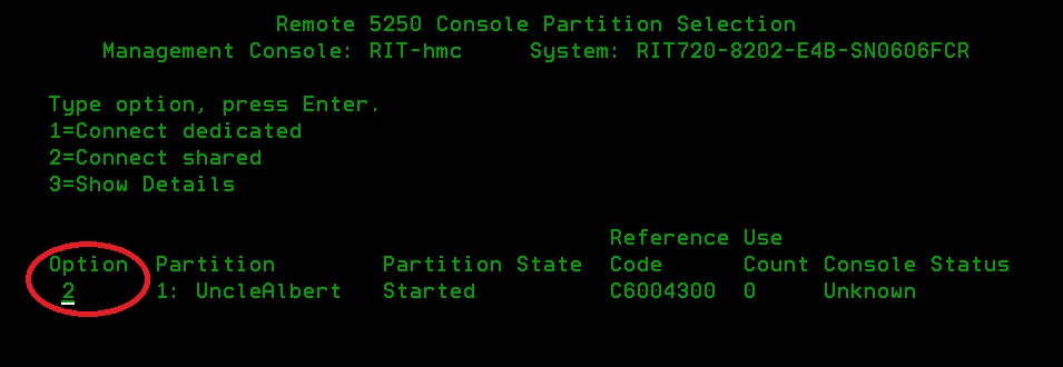 Select Shared Console