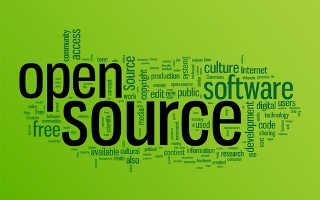Open source word cloud illustration