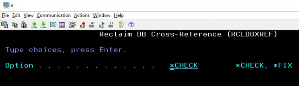 RCLDBXREF CHECK